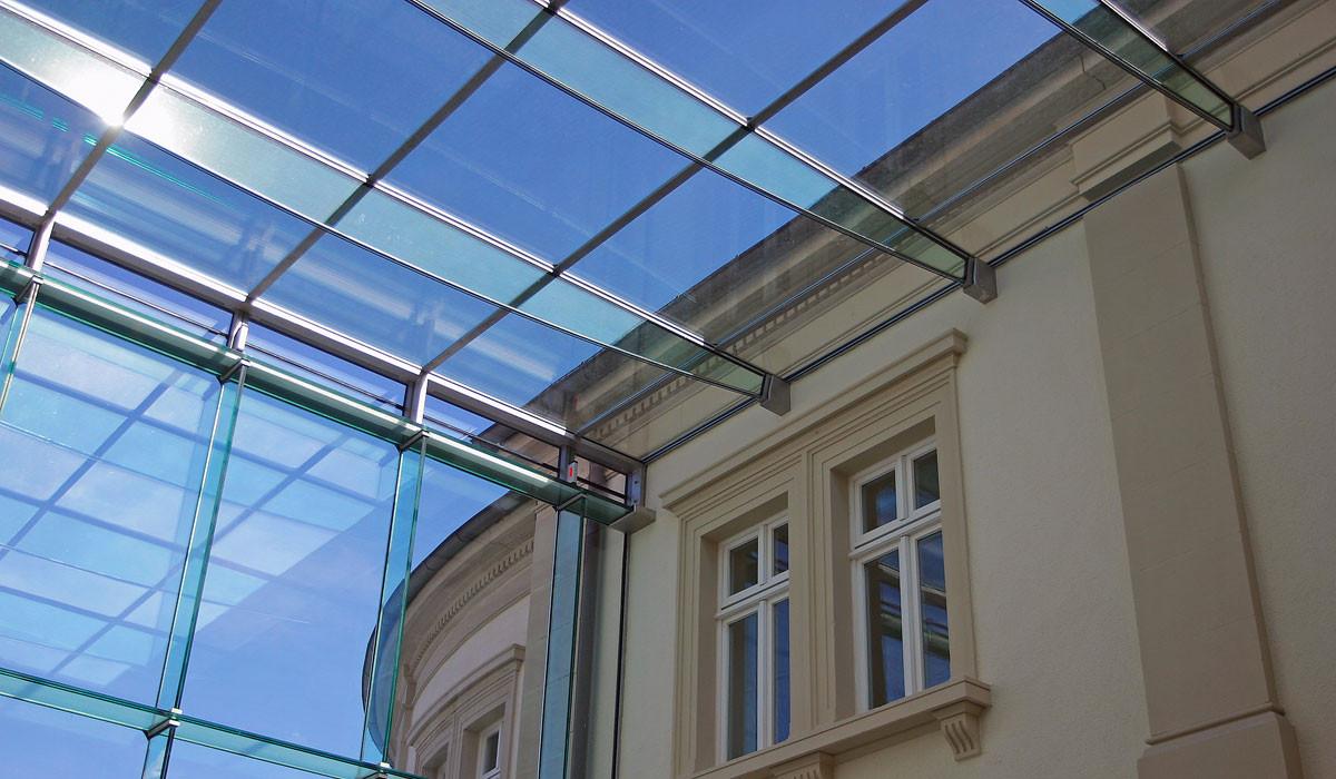 прозрачная крыша из стекла фото