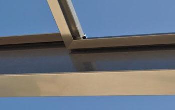 металлический профиль раздвижной стеклянной крыши